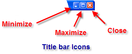 Title bar icons: minimize, maximize and close