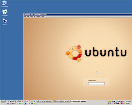 Ubuntu Linux in a window in Windo