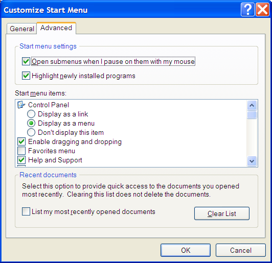 Windows Advanced Start Menu Customization
