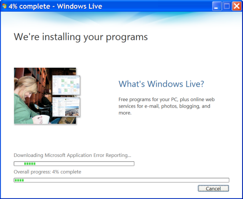 Windows Live Installation