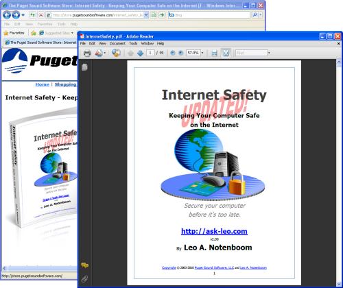 Adobe Reader opened on a document outside of Internet Explorer