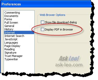 Foxit Display Options