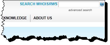 ARIN whois search box