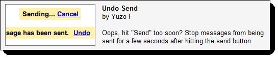 GMail's 'Undo Send' feature