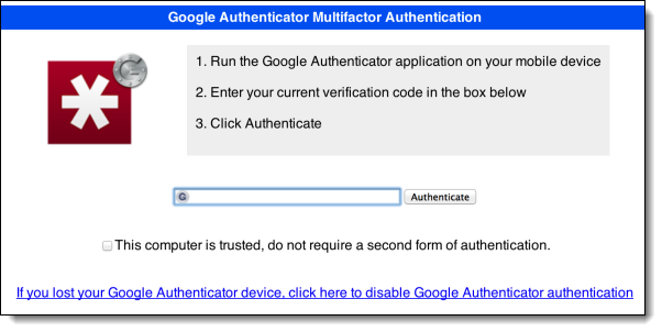 LastPass requesting multi-factor authentication