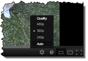 Video Player Resolution Selection
