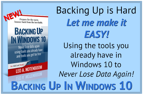 Get Backing Up In Windows 10 Today!