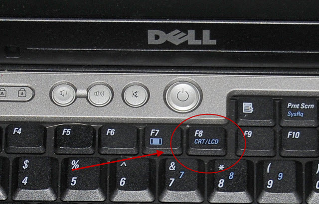 The CRT/LCD selection key on my Dell