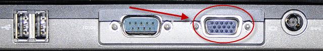 Laptop VGA connector