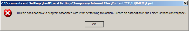 This file does not have a program associated with it...