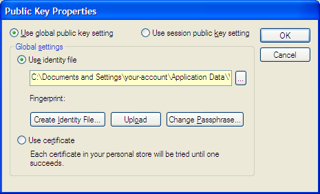 SecureCRT Public Key Properties Dialog