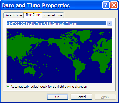Time Zone Properties